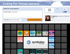 A symbaloo of coding apps for young learners.