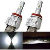 Cheap Alla Lighting 2pcs Super Bright 6000K Xenon White LED Low Beam Headlighs…