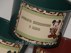 Balde de Pipoca Mickey Safari