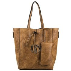Personalized Brown Tote Purse * Fashion Bag * Bag Size : 16.0 L x 14.0 H x 6.0W * Dual handles * Magnetic closure with additional tie closure * Detachable wristlet pouch included * Gold tone hardware * Removable adjustable shoulder strap included * Material : Faux Leather * Color: Brown Personalize It! Choose Your:  -Name or Initial(s) Style (If choosing a Monogram, the middle initial will be larger and in the center. Please provide in the exact order as you would like to appear on the item…