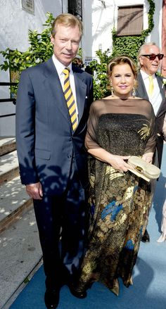 2-9-2017 Grand Duke Henri and Grand Duchess Maria Teresa of Luxembourg attend the wedding of Marie-Gabrielle of Nassau and Antonius Willem  in Marbella, Spain.