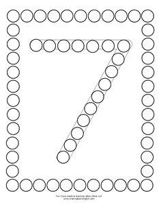 Preschool Education, Free Preschool, Preschool Worksheets, Number Sense Kindergarten, Kindergarten Math, Act Math, Do A Dot, Pre K Activities, Learning Numbers