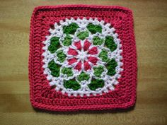 Ravelry: BankerLady's Christmas Cheer Velvet and Lace Square