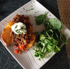 Chilli with sweet potato and watercress (sent in by Sam MacIntosh)