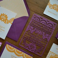 another shot of the laser cut invites