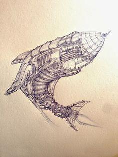 dibujo artístico con bolígrafo