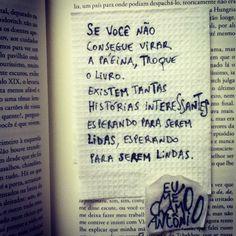 Troque o livro...