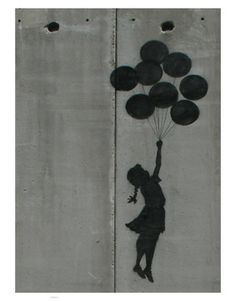 size: Framed Art Print: Balloon girl by Banksy : Our professional designers have pre-selected this frame and mat combination to complement your art print. Each piece is hand-framed by framing experts right here in the USA. Banksy Posters, Art Banksy, Banksy Prints, Bansky, Fine Art Posters, Girl Posters, Balloon Girl Banksy, Decoration, Art Decor
