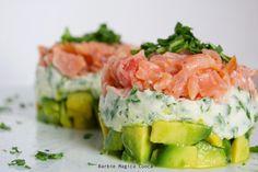 Barbie Magica Cuoca - blog di cucina: (finta) Tartare di salmone, ogni strato un colore!