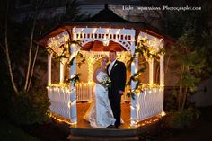 The Olde Mill Inn Gazebo, a spectacular backdrop for special photos with holiday decorations!