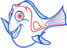 how to draw dory from finding dory step 8