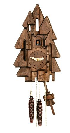 Owl With Maple Leaves Pine Corn 3D Wall Clock Cabin Rustic Decor