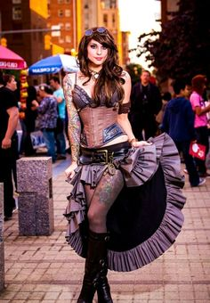 steampunk ropa de moda-impresionante-botas-faldas-estilo