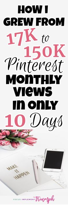 Growing Pinterest monthly views
