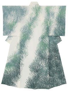 友禅訪問着「暁韻」 Yuzen Houmongi 「Gyouin」 by Kenji Nakai THE 59th JAPAN TRADITIONAL ART CRAFTS EXHIBITION