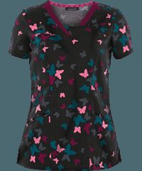 HeartSoul Scrubs Free to Fly Print Top