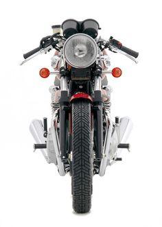Triumph Thruxton, fotos de la motocicleta frontal