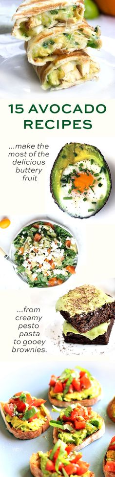 Nourishing, delicious and creative avocado recipes. Obsessed with em!