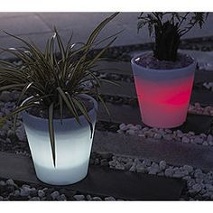 Glow in the dark pots! Just put glow bracelets or necklaces in the inside of the pots around the soil - voila!