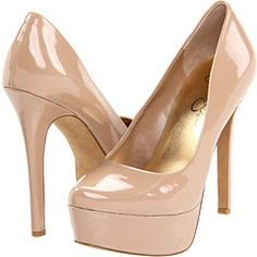 Jessica Simpson platform nude pumps-I just need to break down and buy these already. Beige Pumps, Beige Shoes, Nude Shoes, Nude Pumps, Pumps Heels, Stiletto Heels, Neutral Pumps, Patent High Heels, Nude High Heels