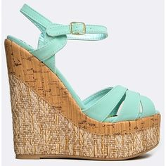 FLORENCE-38 WEDGE ($30) ❤ liked on Polyvore featuring shoes, sandals, heels, wedges, green, platform sandals, platform wedge shoes, platform shoes, heeled sandals and braided wedge sandals