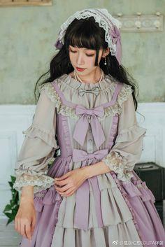 Love this colour! Rococo Fashion, Lolita Fashion, Vintage Fashion, Harajuku Fashion, Kawaii Fashion, Fashion Outfits, Gothic Lolita, Lolita Style, Estilo Lolita