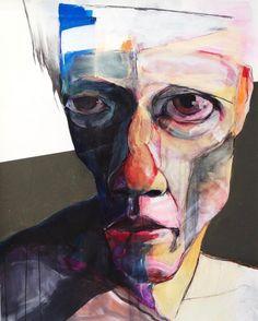 """Gefällt 2,828 Mal, 38 Kommentare - @yofukuro auf Instagram: """"s.terazono painting 「selfportrait」 mixed media on paper #art#drawing#painting #portrait #portrait…"""""""