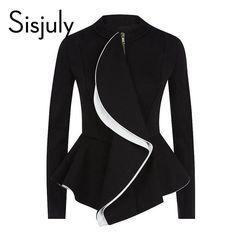 Sisjuly women jacket ruffles vintage black peplum coat autumn winter fashion tops gothic women coats ol style work suit jackets