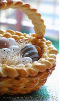Panier en pâte pour Pâques