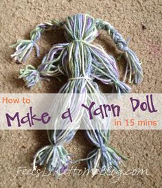 How to Make a Yarn Doll - A Craft Inspired by Little House on the PrairieHow to Create a Fantastic Simple DIY Yarn Doll in 15 Minutes – This Simple … - Kids Yarn CraftsIt's easy to make a yarn doll, a toy that children would have played with long Diy Yarn Dolls, Wool Dolls, Diy Doll, Laura Ingalls Wilder, Yarn Crafts, Sewing Crafts, Sewing Ideas, Pioneer Games, Kids Christmas