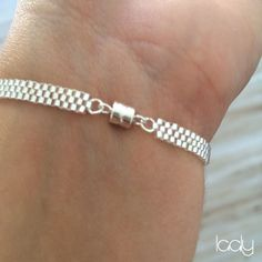 """The product Bracelet """"Œil turc"""" argent is sold by Laaly Créations in our Tictail store. Tictail lets you create a beautiful online store for free - tictail.com"""