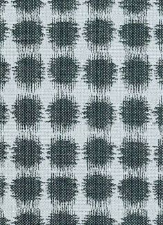 "Sabine 92 Slate - Jennifer Adams Home Fabric - Jacquard ikat dot fabric. Beautiful fabric for window treatments, furniture upholstery or top of the bed. Content; 58% cotton / 42% poly. Repeat; V 3.75"" x H 3.5"". 54"" wide. Durable 35,000 double rubs. Please note; 10 Yard minimum."