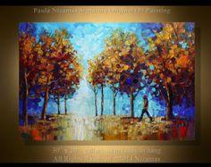 48 x 24 ORIGINAL Abstract Modern Canvas Gallery por Artcoast