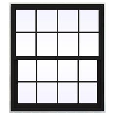 JELD-WEN 41.5 in. x 41.5 in. V-4500 Series Single Hung Vinyl Window with Grids - Black