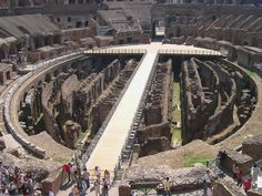ROME - The Colosseum, showing the hypogeum