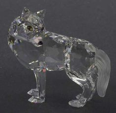 RARE Retired Swarovski Crystal Wolf Figurine 7550 000 002 | eBay