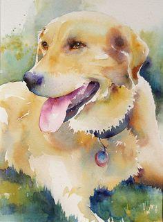 Scout by Yvonne Joyner Watercolor ~  x