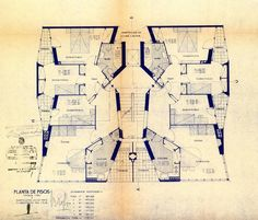 In the tenth of a series looking at influential housing plans, John Tuomey chooses José Antonio Coderch's Casa de la Marina in Barcelona British Architecture, Architecture Drawings, Art And Architecture, Residential Architecture, Apartment Floor Plans, House Floor Plans, Architect Drawing, Elevation Plan, Building Plans