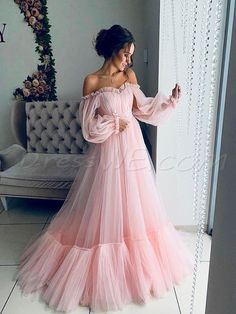 Makeup Looks Discover Off the shoulder dress for wedding guest fluffy tulle dress for women with corset floor length maxi dress formal off shoulder gown any color Girls Pageant Dresses, Baby Girl Dresses, Women's Dresses, Fashion Dresses, Princess Dresses, Puffy Dresses, Summer Dresses, Long Dresses, Colorful Prom Dresses