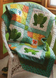 Mr Frog And Friends Quilt Pattern Pieced/Applique DW