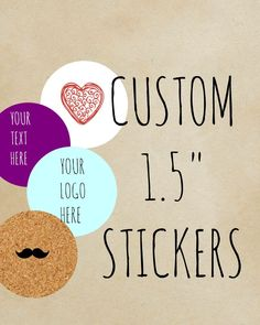 Custom Stickers, Custom Labels, Product Labels ,lip balm labels  ,Personalized Labels ,candle labels ,custom logo personalized, 1.5 circle - pinned by pin4etsy.com