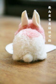 【毛糸のポンポン】小さなうさぎさん | こいとの Handmade Life
