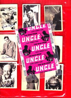 Man-From-UNCLE-A-BC-Gum-Cards-Full-Set-of-55-wrapper-see-text-for-more-pics