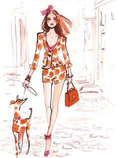 #izakzenou #izak #henribendel #fashion #fashionillustration #illustration #trafficnyc