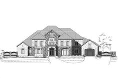 Luxury Style House Plans - 7507 Square Foot Home, 3 Story, 4 Bedroom and 4 3 Bath, 3 Garage Stalls by Monster House Plans - Plan Tuscan House Plans, Mediterranean House Plans, Mediterranean Design, Dream Home Design, House Design, Tuscan Bathroom, Interior Balcony, Tuscan Style Homes, Monster House Plans