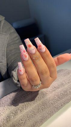 Cute Nails, Pretty Nails, Ballerina Nails, Milk Bath, Acrylic Nails, Acrylics, Nail Inspo, Nail Arts, Long Nails