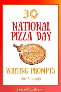 In these fun new National Pizza Day journal prompts, your students will spend time writing about the beloved dish and all of its popular iterations.  As they ponder the merits of cheap greasy pizza, dream up their own new recipes, and argue for their pizza-maker of choice, you'll undoubtedly hear a few stomachs rumbling.  via @journalbuddies