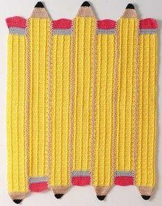 pencil afghan - free crochet pattern.