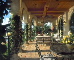 classical mediterenean porch mediterranean patio