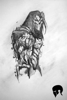 Death Darksiders_3 - Desen în Creion de Cristian Roman // Death Darksiders_3 - Pencil Drawing by Cristian Roman